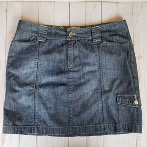 White house black market blanc denim skirt sz 10